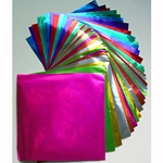 Color Foil Origami- 36 Sheets; 4-1/2 Inch Square