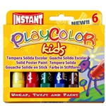 PlayColor Kids - 6 Standard Solid Poster Paints