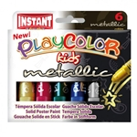 PlayColor Metallic - 6 Metallic Solid Poster Paints