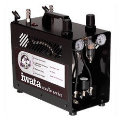 Iwata Power Jet Pro with Two Regulators for Two Airbrushes Stations