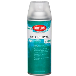 Krylon UV Archival Varnish - Semi Gloss - 11oz