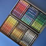 Caran D'Ache Neocolor II Watersoluble Crayon Set of 84 In a Metal Tin