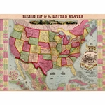 "Cavallini Decorative Paper - United States Railway Map 20""x28"" Sheet"