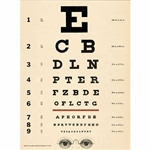 "Cavallini Decorative Paper - Eye Chart 20""x28"" Sheet"