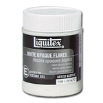 Liquitex White Opaque Flakes - 237ml (8 oz)