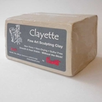 Chavant Clayette Fine Art Scuplting Clay 2 lb Block - Soft