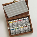 Schmincke Horadam Aquarell Set of 24 - 5ml Tubes in a Wood Box