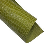 "Crocodile Embossed Paper- Olive 22x30"" Sheet"