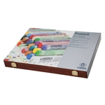 Schmincke Finest Extra-Soft Artist Pastels - Wood Box Set of 60 Best of Sticks