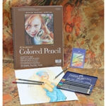 "Faber-Castell Art GRIP Colored Pencil 12 Piece Set with a Strathmore 9""x12"" Colored Pencil Drawing Pad"