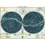 "Cavallini Decorative Paper- Celestial Chart 20""x28"" Sheet"
