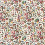 "Rossi Decorated Papers from Italy - Art Nouveau Flowers 28""x40"" Sheet"