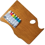 New Wave Paint Palette Set - Bermuda/Tropical Michael Harding Paint with Highland Maple Wood Palette