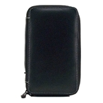 Global Art Genuine Leather Pencil Cases - Black