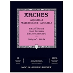 Arches 140lb Watercolor Pads - Hot Pressed