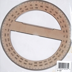 Pacific Arc Full Circle Protractor 6""
