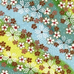 Japanese Chiyogami Paper - Pink, Red, White Flowers on Greens