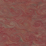 "Handmade Italian Marble Paper- Scroll Swirls Red on Craft Paper 19.5 x 27"" Sheet"