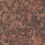 "Handmade Italian Marble Paper- Stone Marble Brown Tan on Craft 19.5 x 27"" Sheet"
