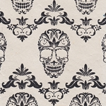 Filagree Sugar Skull Printed Paper from Nepal