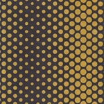 Dancing Dots Op Art Paper (Optical Illusion)- Gold on Black