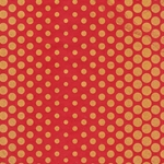 Dancing Dots Op Art Paper (Optical Illusion)- Gold on Red