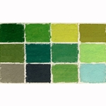 Diane Townsend Handmade Terrages Sets - Green Tones Set of 12 Pastels