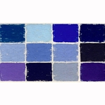 Diane Townsend Handmade Terrages Sets - Blue Tones Set of 12 Pastels