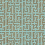 Endless Maze Op Art (Optical Illusion) Paper- Gold on Turquoise