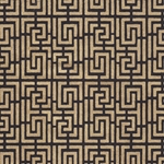 Endless Maze Op Art (Optical Illusion) Paper- Gold on Black