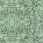 Crystal Shatter Op Art (Optical Illusion) Paper- Black on Sage Green