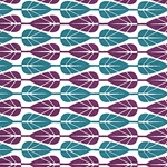 "Paddle Leaf- Purple/Teal 22x30"" Sheet"