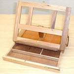 Art Advantage Wood Sketch Box Easel with Drawer