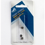 Logan 786 Glass Wheel Blades for #704 Glass Cutter - Pack of 3 Wheels & 2 Pins