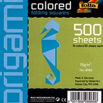 Origami Colored Folding Squares- 500 8x8 Inch Sheets