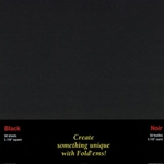 Origami Paper- 50 Black Sheets