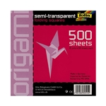 Origami Semi-Transparent Folding Squares- 500 8x8 Inch Sheets