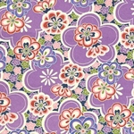 Bright Floral in Purple, Red, Pink, & Green