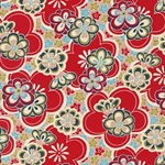 Red & Multicolor Floral Pattern