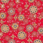 "Hana Yuzen Ornaments Red - 18.5""x25"" Sheet"