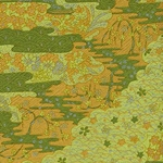 "Kirara Green and Gold Flowers & Leaves - 25""x18.75"" Sheet"