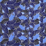 "Aizome Fans (Indigo Blue Fan Pattern) - 21.5""x31.5"" Sheet"