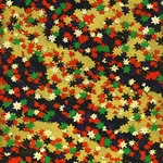 "Multicolor Leaves on Black and Gold - 19""x25"" Sheet"