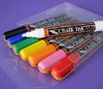 Chalk Ink Liquid Chalk Markers - Set of 8 Classic Primary Colors