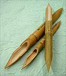 Set of 3 Bamboo Reed Pens