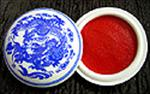 "Vermilion Ink Pad in a China Cup (2-1/4"")"