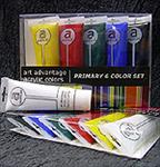 Art Advantage Acrylic Colors Set of 6 Primary Colors
