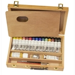 Sennelier Egg Tempera Set Packed in a Beautiful Wood Box