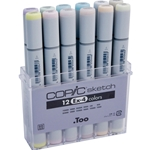COPIC Sketch Markers Set of 12 Extra Colors 4
