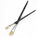 Enkaustikos Angled Hog Bristle Encaustic Brush